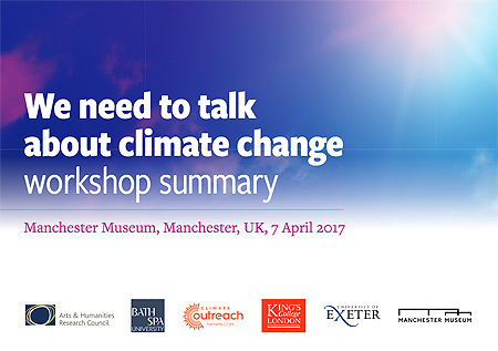 'We need to talk about climate change' workshop summary (2017)